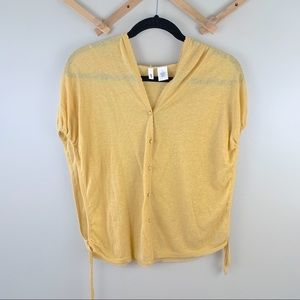 3/30$ Moth Anthropologie Button front Hood Blouse